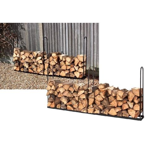 Inside / Outside Log Store. Plastic Coated Heavy Duty Steel - 1 Meter or 2 Meter
