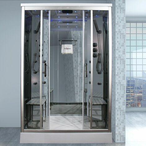 Insignia Model INS9005 1400 x 900 mm Steam Shower Cabin Bathroom Clear Glass