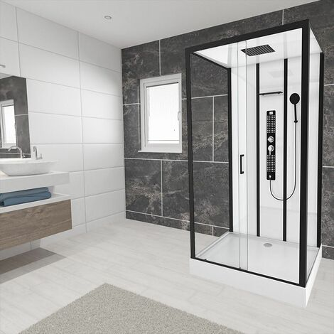 Insignia Non Steam Shower Cabin Enclosure 1150 x 850 Body Jets Audio MC115RT