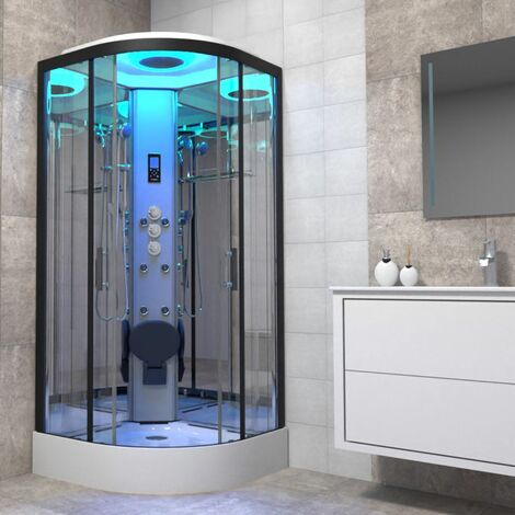 Insignia Non-Steam Shower Cabin Enclosure 800 x 800mm Premium Range Body Jets