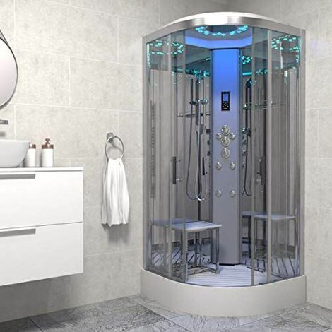 Insignia Platinum Non Steam Shower Cabin Enclosure Quadrant 800mm Chrome/Clear