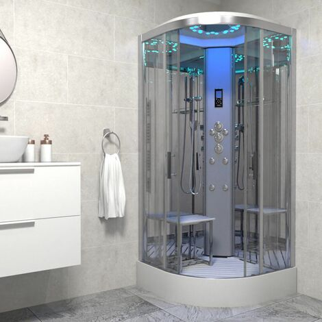 Insignia Platinum Non Steam Shower Cabin Enclosure Quadrant 900mm Chrome/Clear