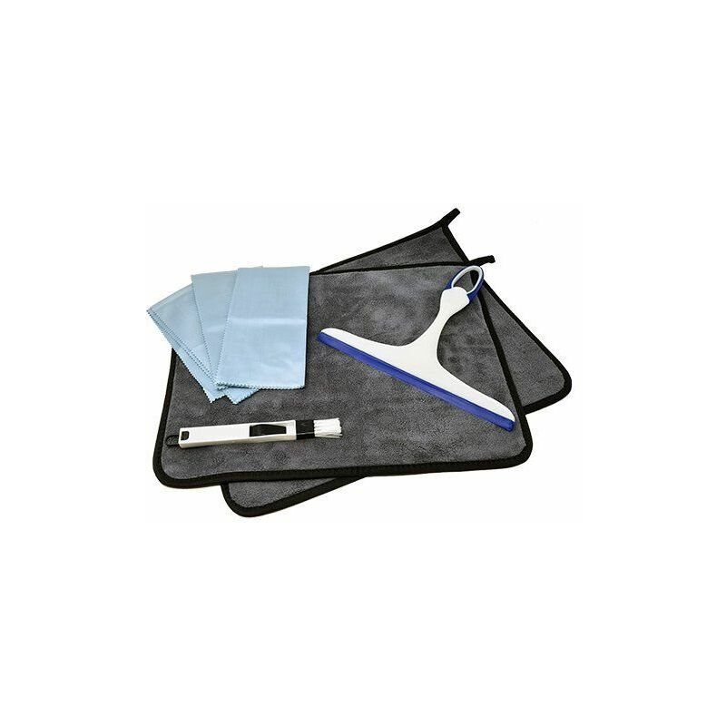 Image of Insignia Pro Shower Glass Cleaning Kit Squeegee Cloth Brush