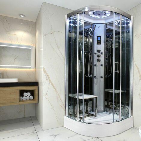 Insignia Quadrant Steam Enclosure Cubicle Shower Cabin 800x800 Platinum Range