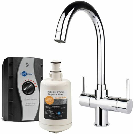InSinkErator 3 in 1 Kitchen Tap Hot & Cold Chrome + Boiling Tank