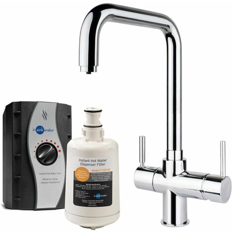InSinkErator 3 in 1 Kitchen Tap Tank Boiling Hot/Cold Modern Chrome