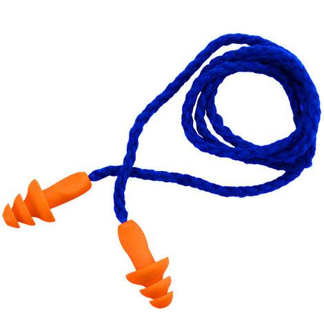 Insonorizadas tapon auditivo del oido de reduccion de ruido de silicona impermeable enchufes del arbol de navidad En forma reutilizables Tapones para los oidos espinal, amarillo naranja