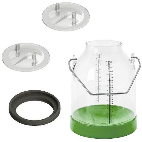 """main image of """"INSPROVET Cubo de Plástico para ordeño 30 L, Verde, con Junta y 2 Tapas x 16mm, 20 mm, Pack Completo"""""""