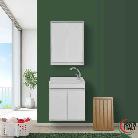 Instalación suspendida de lavabo de 60 cm en color blanco Feridras Fabula 801028 | Blanco