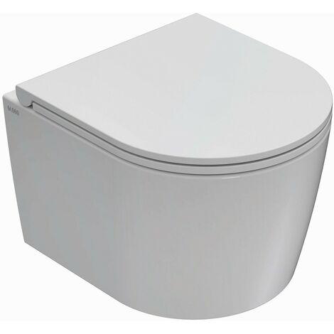 Instalación suspendida inodoro cerámica sin borde 43.36 Globo Forty3 FOS06 | Blanco - Globo BI