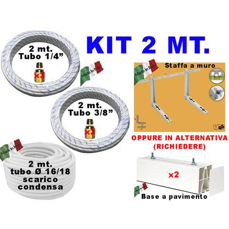 INSTALLATION KIT CONDITIONER CUIVRE TUYAUX 1/4 3/8 10 MT TUBE SUPPORT de MONTAGE CONDENSATS