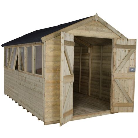 """main image of """"INSTALLED 12ft x 8ft Pressure Treated Tongue And Groove Apex Shed (3.7m x 2.6m) - INCLUDES INSTALLATION"""""""