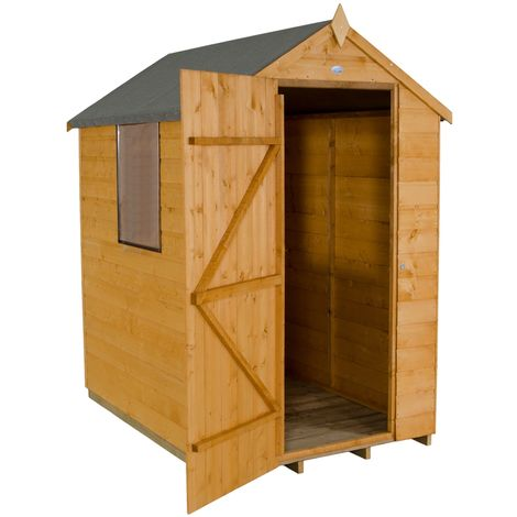 INSTALLED 6ft x 4ft Shiplap Tongue And Groove Apex Shed (1.8m x 1.3m) - INCLUDES INSTALLATION