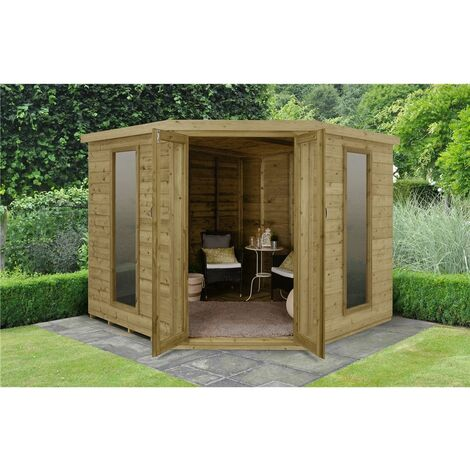 """main image of """"INSTALLED 8 x 8 Premier Corner Summerhouse (3.46m x 2.80m) INSTALLATION INCLUDED Core (BS)"""""""