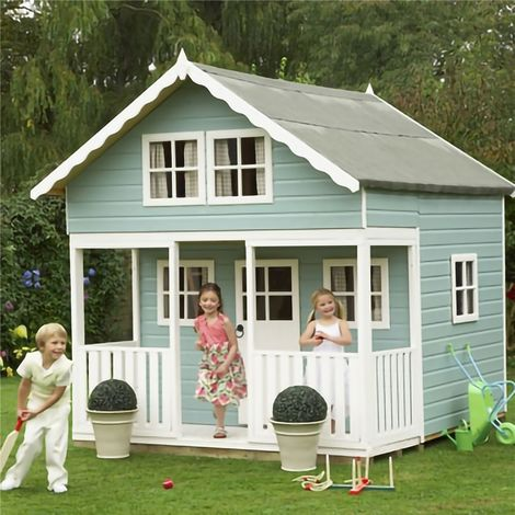 INSTALLED 8 x 9 (2.69m x 2.39m) - Lodge Playhouse INSTALLATION INCLUDED