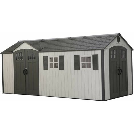 Installed Lifetime 17.5 Ft. x 8 Ft. Outdoor Storage Shed - Brown