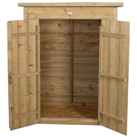 INSTALLED Pent Garden Store - Pressure Treated (1.1m x 0.6m) - INCLUDES INSTALLATION