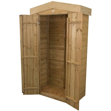 INSTALLED Shiplap Apex Tall Garden Store - Pressure Treated (1.1m x 0.5m) - INCLUDES INSTALLATION