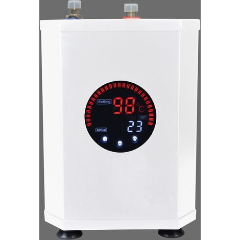 Instant Boiling Water Tank Hot Water Kitchen 2.4L LED Display Carbon Steel