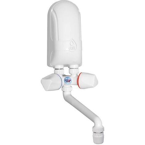 Instant Electric Hot Water Heater Boiler Hand Wash 3,7kW White Plastic Spout