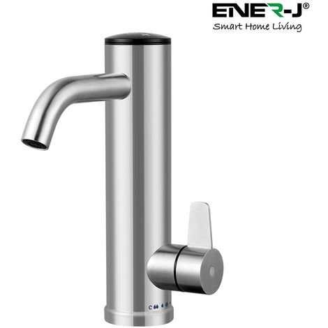 Instant Electronic Bathroom Basin Hot Water Tap with Digital Display and Adjustable Temperature, Up to 50 Degrees C