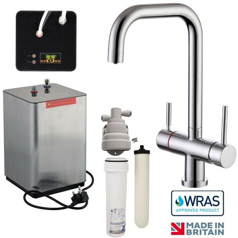 Instant Hot Boiling Water Kitchen Tap 3 in 1 Cold Hot Water Ceramic Filter WRAS