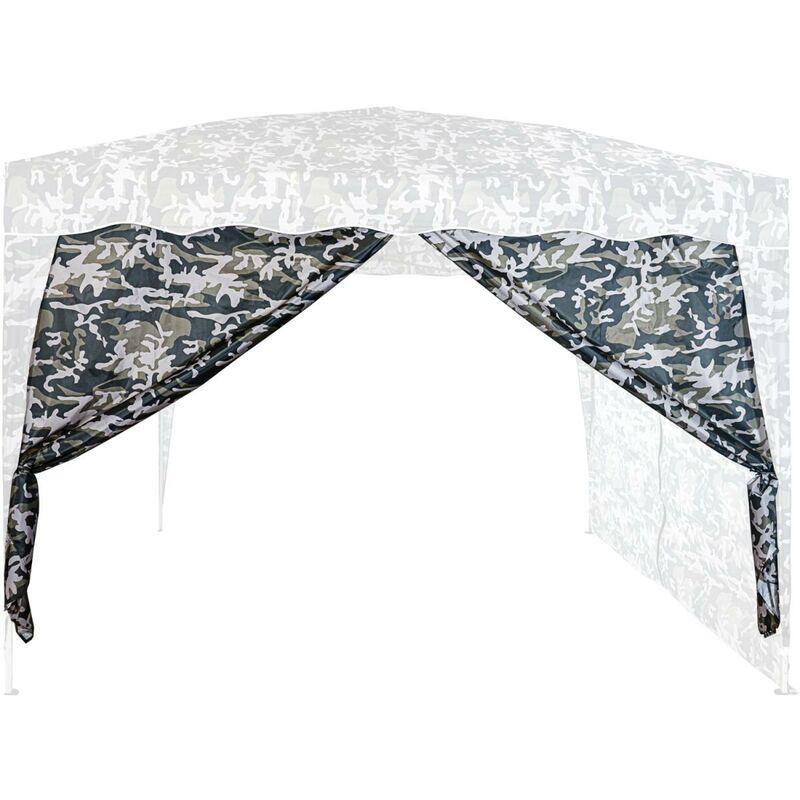 INSTENT® Panneau latéral avec fermeture à glissière, couleur urban, pour tonnelles 3x3m