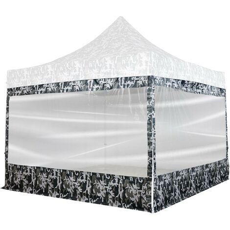 INSTENT® PRO Panneau latéral avec fenêtre panoramique XXL, couleur urban, pour tonnelle 3x3m