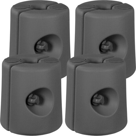 INSTENT® Set de 4 pieds pour tonnelle avec diamètre rond 20-40mm, gris