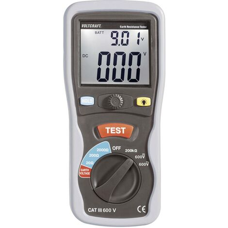 Instrument de mesure de résistance de terre VOLTCRAFT ET-02