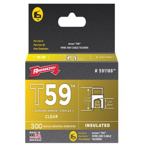 Insulated Staples (300) 6x8mm - Clear