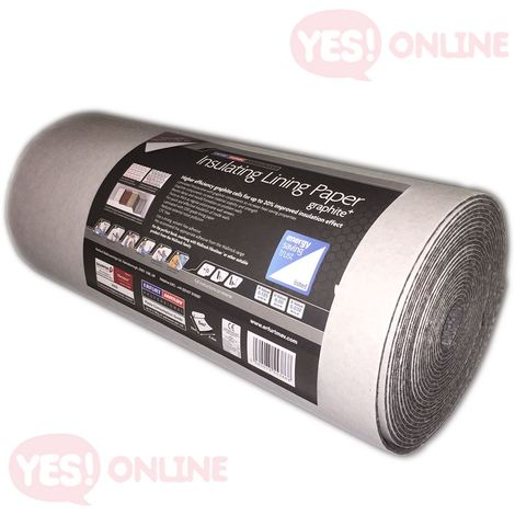 Insulating Lining Wallpaper Graphite Thermal Thick Quality Durable Erfurt