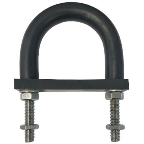 Insulating Rubber Lined U-bolt and Backing pad 145 mm ID (suit 125 mm NB pipe)-Galvanised