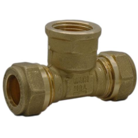 """Intatec - 15mm Compression to 1/2"""" Female BSP Tee"""