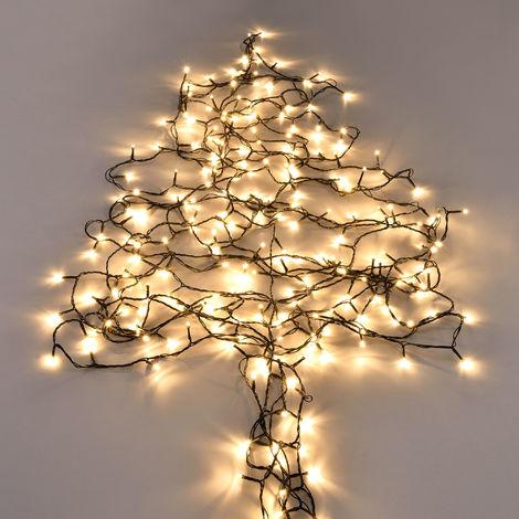 [in.tec] 80 / 120 / 240 / 360 LED 11m / 14m / 23m / 32m Lichterkette + Netzteil Innen/Außen Weihnachten Warmweiß