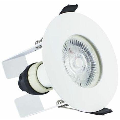 Integral Evofire Fire Rated Downlight 70Mm Cutout Ip65 White Round +Gu10 Holder & Insulation Guard