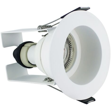 Integral Evofire IP65 LED Downlight Recessed White with Insulation Guard and GU10 Holder - ILDLFR70E003