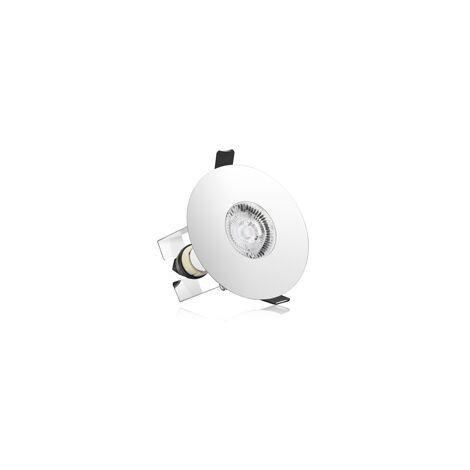 Integral Evofire IP65 Round Chrome 70-100mm Cutout Downlight with GU10 Holder & Insulation Guard - ILDLFR70D020