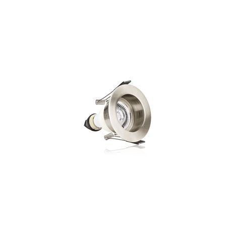 Integral Evofire IP65 Round Satin Nickel 70mm Cutout Recessed Downlight with GU10 Holder - ILDLFR70E002