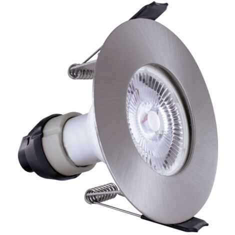Integral Evofire IP65 Round Satin Nickel LED Downlight with GU10 Holder - ILDLFR70D002