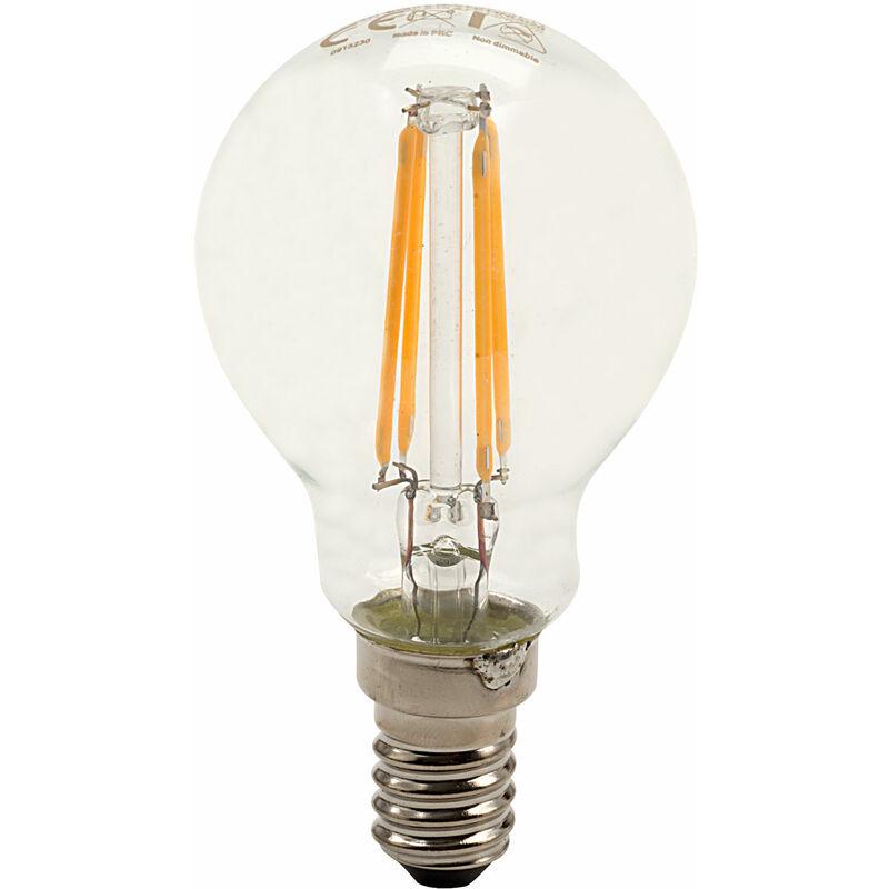 Image of E14 Mini Globe Filament LED Bulb 4W (36W) Warm White 2700K 420lm ND - Integral Led