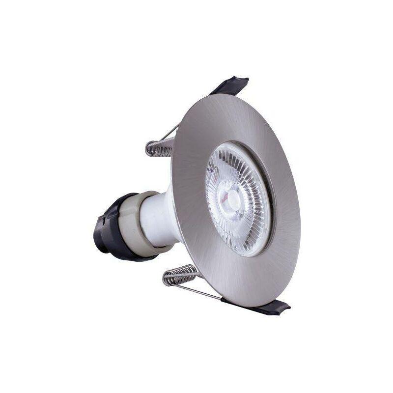 Image of Integral - LED Fire Rated Downlight Recessed Spotlight Round GU10 Holder Satin Nickel IP65 - INTEGRAL LIGHTING