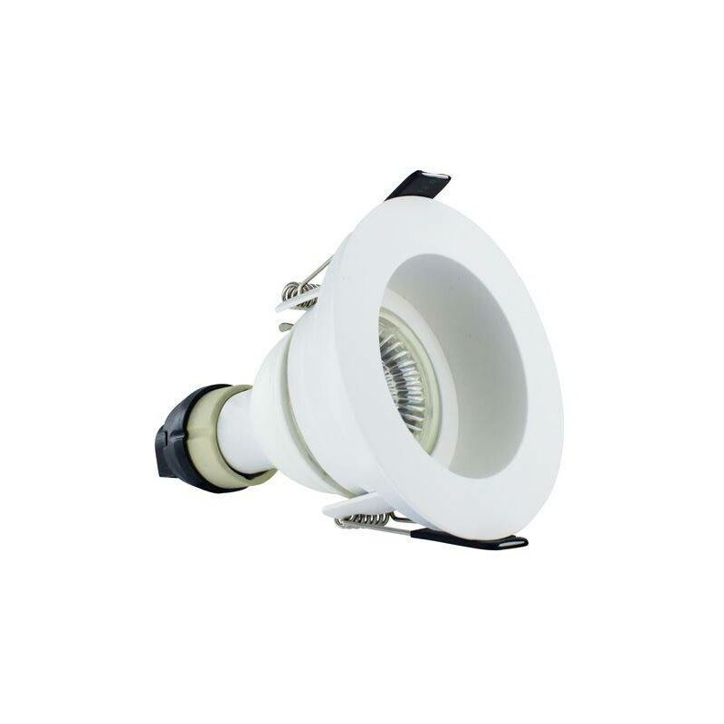Image of Integral - LED Fire Rated Downlight Recessed White GU10 Holder Matt White IP65 - INTEGRAL LIGHTING
