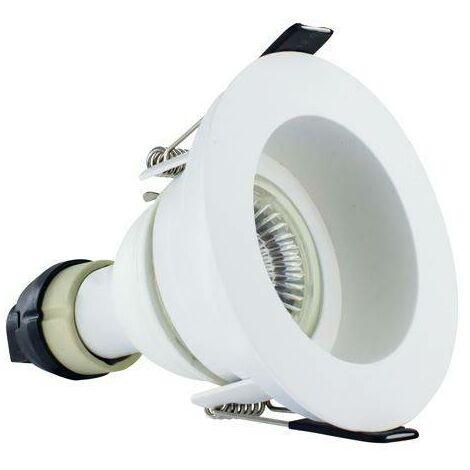 Integral - LED Fire Rated Downlight Recessed White GU10 Holder Matt White IP65