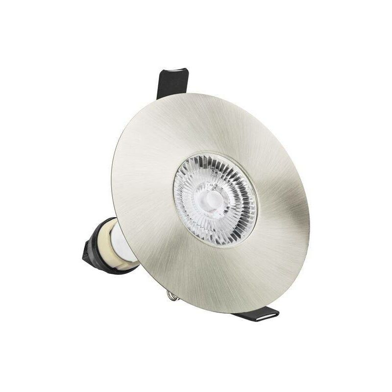 Image of Integral - LED Fire Rated Downlight Round Satin Nickel GU10 Holder Satin Nickel IP65 - INTEGRAL LIGHTING