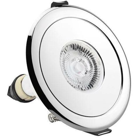 Integral - LED Fire Rated Static Downlight Adapter Round Polished Chrome IP65, GU10