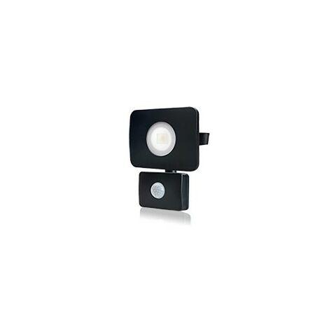 Integral - LED Floodlight 20W 3000K 1800lm PIR Sensor / Override Matt Black IP64