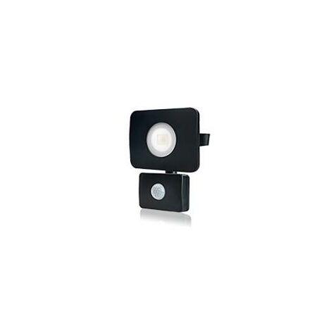 Integral - LED Floodlight 20W 4000K 1800lm PIR Sensor / Override Matt Black IP64