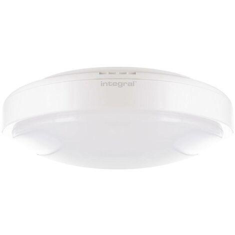 Integral - LED Flush Ceiling Light Bulkhead 24W 4000K 1750lm IK09 Matt White IP44