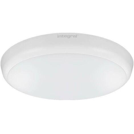 Integral - LED Flush Ceiling / Wall Light 12W 4000K 1056lm 10% Standby Microwave Sensor Matt White IP54